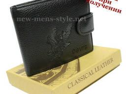 Мужской новый стильный кожаный кошелек портмоне гаманець. ..