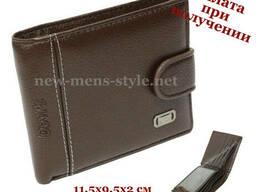 Мужской стильный кожаный кошелек портмоне гаманець Devis. ..