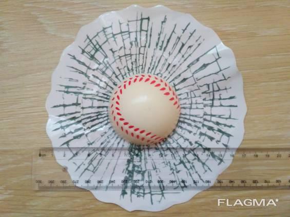Наклейка на авто Мяч Бейсбольный в окне авто наклейка прикол