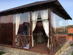 Мягкие гибкие окна шторы ПВХ, м'які вікна, пвх штори