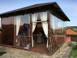 Мягкие окна, шторы, завесы, накрытие из ПВХ ткани.