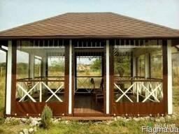 Мягкие окна ( шторы ) ПВХ для летнего кафе, беседки, веранды