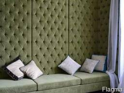Мягкие стеновые панели Киев, мягкая 3D плитка