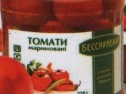 Консервированые помидоры, огурцы, соки оптом!