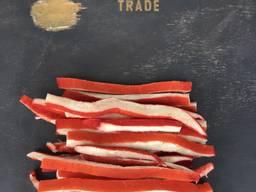 Мясо краба полосы сушеные
