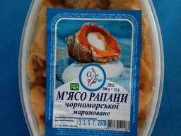 Мясо рапаны маринованое. Черноморский деликатес.