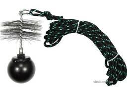 Набір для очищення димарів Vorel : шнур Ø= 6 мм, l= 10 м; йорж Ø= 125 мм; гиря- 1.3 кг