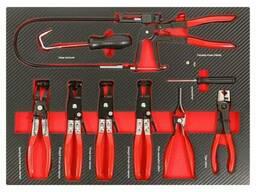 Набір інструментів для зняття/установки хомутів 9пр, в ложементі, EF-21035 Everforce