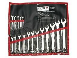 Набір ключів ріжково-накидних YATO М8-32 мм 17 шт