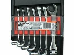 Набір ключів розрізних з шарніром YATO М8-17 мм 7 шт