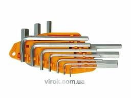 Набір ключів шестигранних Г-подібних Vorel М1.5-10 мм 10 шт