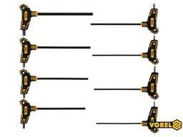 Набір ключів шестигранних Т-подібних Vorel HEX 2.5-10 мм 100-200 мм 8 шт