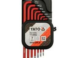Набір ключів Torx Г-подібних YATO Т9-Т30 7 шт