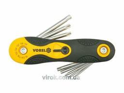 Набір ключів Torx складних Vorel Т9-Т40 8 шт