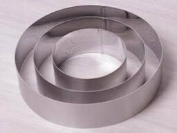 Набор круглых форм для десертов Kamille 3 шт