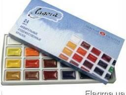 Набор акварельных красок Ладога 24цв, кюветы