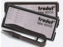Запасная касса букв и цифр для самонаборных штампов