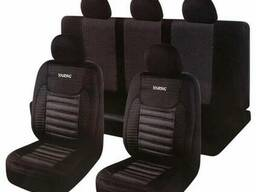 Набор чехлов Milex/Touring полный к-т/2пер+2задн+5подг/черные (PS-T25001)