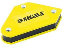 Набор держателей магнитных мини 4кг 52×20×40×16×38мм (45,90,135°) 4шт Sigma (4270251)