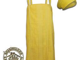 Набор для бани женский махровый (желтый)