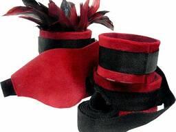 Набор для BDSM Sportsheets - Sexy Slave Kit Червоно-чорний