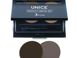 Набір для макіяжу брів Unice Divine PBS темно коричневий 03, 2 х 2,5 м