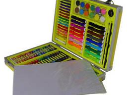 Набор для рисования и творчества MK 2454 с чемоданом, 34.5x25x6 см, желтый