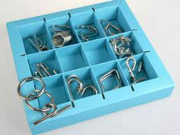 Набор головоломок 10 Metall Puzzles blue 10 головоломок. ..