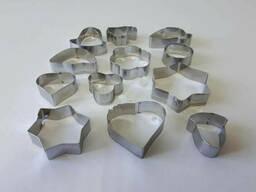 Набор из 12 форм для выпечки печенья на кольце