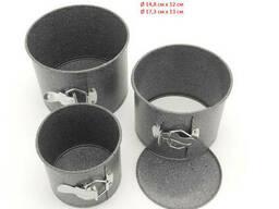 Набор из 3 разъемных форм для выпечки пасхи (паски) с антипригарным покрытием с. ..