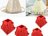 Набор из 4 форм для творожной и сырной пасхи (пасочницы) 2x0.5 кг / 2x0.3 кг - фото 6