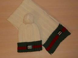 Набор комплект шапка+шарф Gucci, Италия