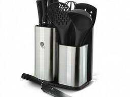 Набор кухонных принадлежностей и ножей Berlinger Haus Black Silver Collection BH-6247. ..