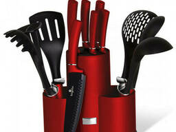 Набор кухонных принадлежностей и ножей Berlinger Haus Metallic Line Burgundy Edition. ..