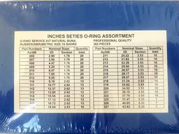 Набор метрических колец - 386 шт. , 30 Размеров - NBR-70 - фото 2