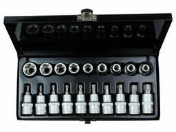 """Набор насадок и биты с насадками Torx 1/2"""" 19шт CrV (метал. кейс) Sigma (6086661)"""