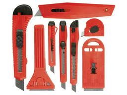 Набор ножей, выдвижные лезвия, 9мм-4, 18мм-2, +скребки. ..