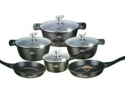 Набор посуды 11 предметов черный Bohmann BH-60-11-black
