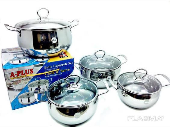 Набор посуды A-plus, Кастрюля 4 шт