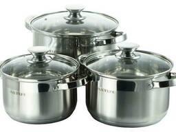 Набор посуды нержавеющий Astor - 2, 5 x 3, 6 x 4, 7 л (3. ..
