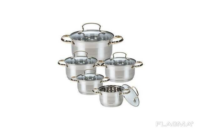 Набор посуды нержавеющий Maestro - 1,5 x 2,5 x 4 x 5 x 6. ..