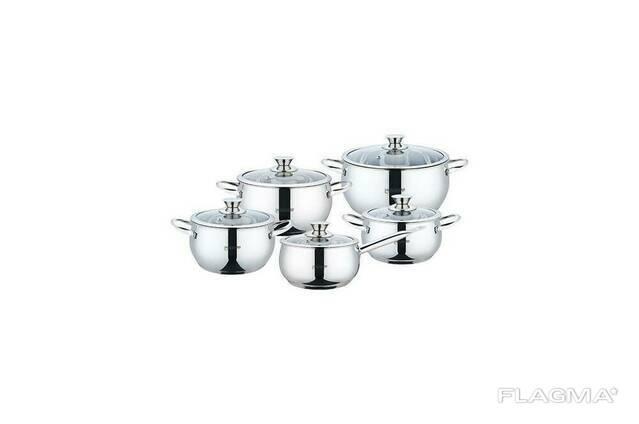 Набор посуды нержавеющий Maestro - 2,1 x 3,4 x 4,2 x 5 x. ..