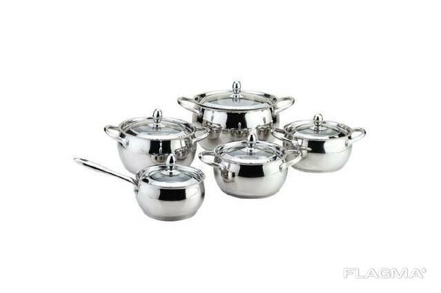 Набор посуды нержавеющий Maestro - 2 х 2 х 3 х 5 х 1,5 л. ..