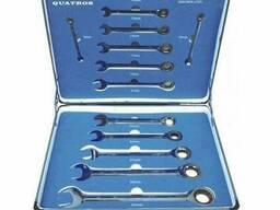 Набор рожково-накидных ключей с трещёткой 13 штук, QS51128 Quatros