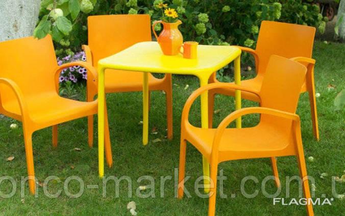 """Набор садовой мебели Стол """"Альф"""" и 4 стула """"Гектор"""", Алеана"""