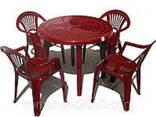 """Набор садовой мебели Стол """"Круг"""" и 4 стула """"Луч"""". .. - фото 1"""