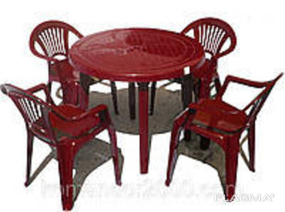 """Набор садовой мебели Стол """"Круг"""" и 4 стула """"Луч"""". .."""