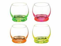 Набор стаканов для сока Crazy Neon 4 по 390 мл Bohemia. ..