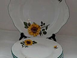 Набор тарелок для десерта Подсолнух Чехия