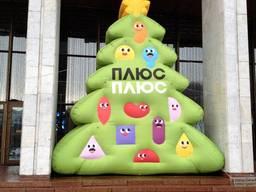 Новогодняя надувная декорация для улицы